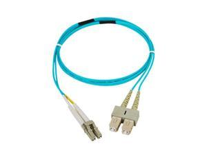 SIIG CB-FE0P11-S1 3.28 ft. (1m) 10 Gb Aqua Multimode 50/125 Duplex Fiber Patch Cable LC/SC