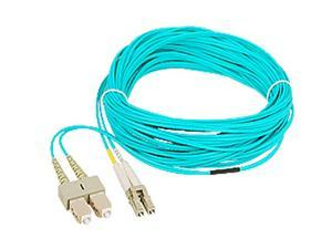 SIIG CB-FE0S11-S1 32.8 ft. 10 Gb Aqua Multimode 50/125 Duplex Fiber Patch Cable LC/SC