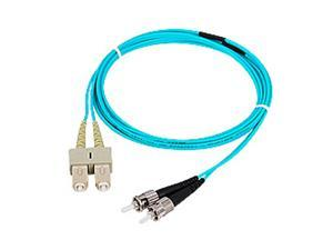 SIIG CB-FE0T11-S1 6.56 ft. (2m) 10 Gb Aqua Multimode 50/125 Duplex Fiber Patch Cable SC/ST