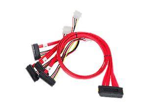 SIIG Model CB-S20A11-S1 2.46 ft. SCSI SAS Cable - SFF-8484 to 4x SFF-8482 - 75cm