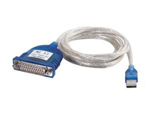 Cables To Go Model 22429 6 ft. USB Serial DB25 Adapter Cable M-M