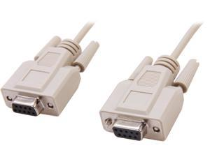 C2G Model 03044 6 ft. DB9 F/F Null Modem Cable - Beige F-F