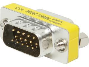 C2G 20686 HD15 VGA M/M Mini Gender Changer (Coupler)