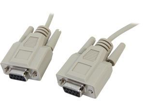 Cables To Go Model 03045 10 ft. DB9 F/F Null Modem Cable - Beige