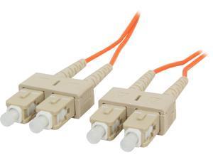 C2G 09113 1m SC/SC Duplex 62.5/125 Multimode Fiber Patch Cable - Orange