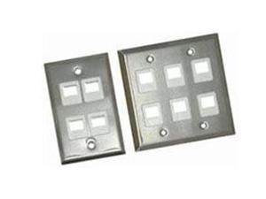 C2G 2 Socket Multimedia Keystone Faceplate