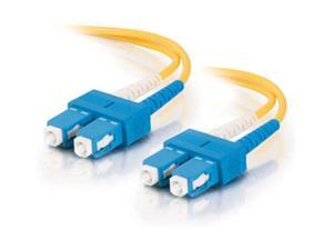 C2G 12505 3m SC/SC Duplex 9/125 Single Mode Fiber Patch Cable - Yellow