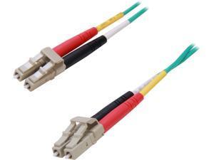 C2G 33050 10m 10 Gb LC/LC Duplex 50/125 Multimode Fiber Patch Cable - Aqua