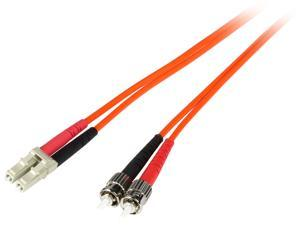 Cables To Go 13532 9.83 ft. 3m USA-Made LC/ST Duplex 62.5/125 Multimode Fiber Patch Cable Male to Male