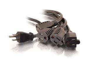 C2G Model 29806 3 ft. 1-to-4 Power Cord Splitter