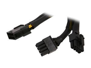 """Athena Power CABLE-YEPS828 6"""" EPS-12V 8-pin Y-splitter Power Cable"""