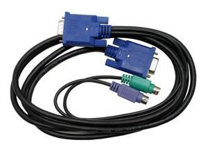 StarTech 6 ft. Ultra-Thin PS/2 3-in-1 KVM Cable, Black SVECON6