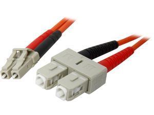 StarTech FIBLCSC1 3.28 ft. Multimode 62.5/125 Duplex Fiber Patch Cable LC - SC