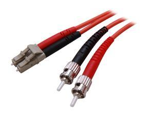 StarTech FIBLCST3 9.8 ft. Multimode 62.5/125 Duplex Fiber Patch Cable LC-ST