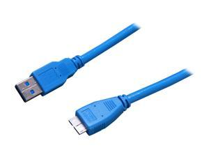 StarTech USB3SAUB1 1 ft. Blue SuperSpeed USB 3.0 Cable A to Micro B