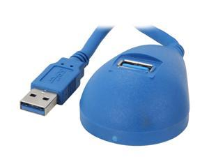 StarTech USB3SEXT5DSK 5 ft. Blue Desktop SuperSpeed USB 3.0 Extension Cable - A to A M/F