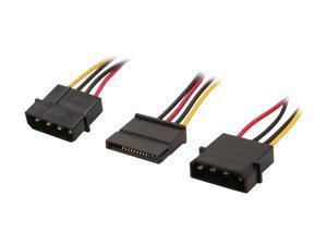 APEVIA CVT345 3Pk 1 x 4pin PC Power to 1 x SATA Converter