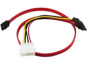 CP TECHNOLOGIES CL-SATA-18-LP4 1.50 ft Clearlinks Serial-ATA Cable with LP4 Adapter F-F