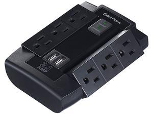 CyberPower CSP600WSU Surge Protector 6-AC Outlet Swivel with 2 USB Charging Ports