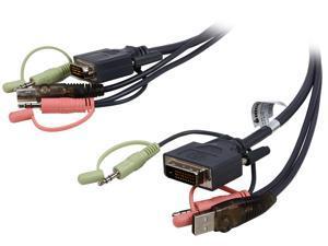 IOGEAR 16 ft. Dual-Link DVI KVM Cable, USB and Audio/Mic, TAA Compliant G2L7D05UDTAA