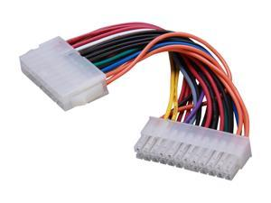 """KINGWIN PEC-02 6.5"""" 24P(M) to 20P(F) Motherboard cable"""
