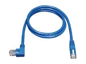 TRIPP LITE N204-005-BL-LA 5 ft. Cat 6 Blue Gigabit Left Angle to Straight Patch Cable