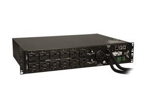 Tripp Lite Switched PDU with ATS, 2.9 kW Single-Phase 120V Outlets (24 x 5-15/20R, 1 x L5-30R) 2 x L5-30P, 2 x 10 Feet Cords, 2U Rack-Mount, TAA (PDUMH30ATNET)