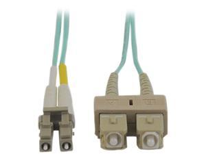 Tripp Lite N816-15M 50 ft. Aqua Duplex Fiber Patch Cable