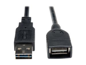 Tripp Lite Universal Reversible USB 2.0 A-Male to A-Female Extension Cable - 1ft
