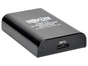Tripp Lite USB 3.0 SuperSpeed to DisplayPort Dual Monitor External Video Graphics Card Adapter, 512 MB SDRAM - 2560x1600,1080p (U344-001-DP)