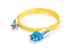 C2G 15289 2m SC/ST Duplex 9/125 Single Mode Fiber Patch Cable - Yellow