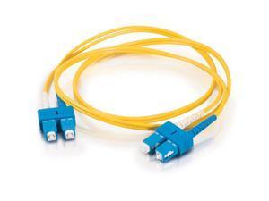 C2G 16816 16.40 ft. SC/SC Duplex 9/125 Single Mode Fiber Patch Cable