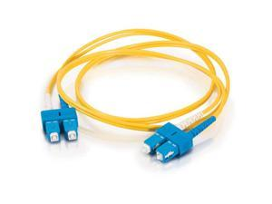 C2G 18575 10m SC/SC Duplex 9/125 Single Mode Fiber Patch Cable - Yellow