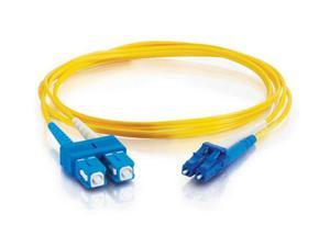 C2G 28523 10m LC/SC Duplex 9/125 Single Mode Fiber Patch Cable - Yellow