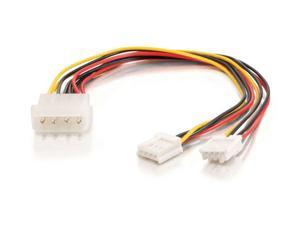 """C2G 03165 10"""" One 5-1/4in to Two 3-1/2in Internal Power Y-Cable"""