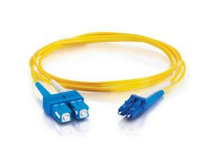 C2G 37469 22.97 ft. LC/SC Duplex 9/125 Single Mode Fiber Patch Cable