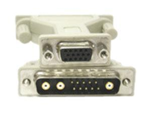 C2G 28278 C2G 13W3 Male to HD15 Female Pinning Adapter - 1 x HD-15 Female - 1 x 13W3 Male - Beige