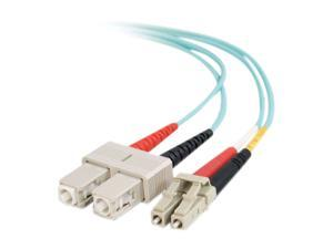 C2G 33052 6.56 ft. 10 Gb LC/SC Duplex 50/125 Multimode Fiber Patch Cable