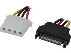 "C2G 10149 6"" 15-pin Serial ATA Male to LP4 Female Power Cable M-F"