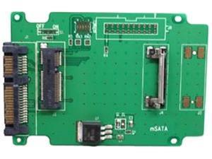 Aleratec 350118 50mm mSATA SSD to SATA Adapter 2-Pack