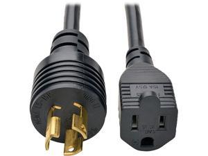 Tripp Lite Model P025-001 1 Foot Heavy-Duty Power Adapter Cord, 15A, 14AWG (NEMA 5-15R to L5-15P)