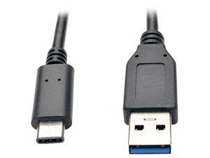 Tripp Lite USB 3.1 Gen 1 (5 Gbps) Cable, USB Type-C (USB-C) to USB Type-A M/M, 3-ft. (U428-003)