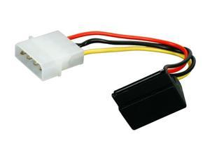 """CABLES UNLIMITED FLT-3700-RA 6"""" SATA Right Angle Power Adapter Cable"""