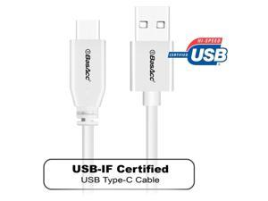BasAcc 3.3 ft. White USB 2.0 Type C Male to USB Type A Male Cable
