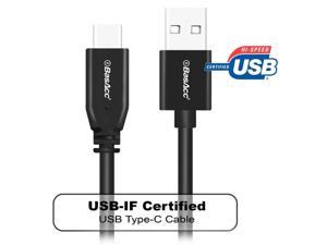 BasAcc 3.3 ft. Black USB 2.0 Type C Male to USB Type A Male Cable