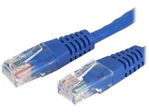 StarTech M45CROSS25BL 25 ft. Cat 5E Blue Cat. 5e UTP Patch Cable