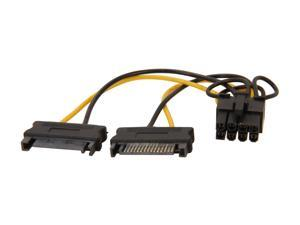 "StarTech SATPCIEX8ADP 6"" 6in SATA Power to 8 Pin PCI Express Video Card Power Cable Adapter"