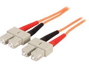 StarTech 50FIBPSCSC2 6.6 ft. OFNP Plenum Multimode 50/125 Duplex Fiber Patch Cable SC - SC M-M