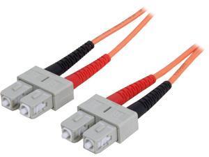 StarTech 50FIBPSCSC5 16.4 ft [5 m] OFNP Plenum Multimode 50/125 Duplex Fiber Patch Cable SC - SC M-M