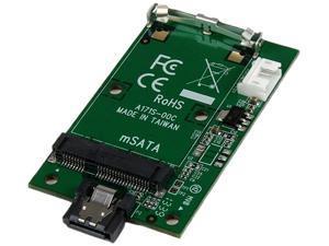 StarTech SAT32MSATM SATA to mSATA SSD Adapter – Port Mounted SATA to Mini SATA Converter Card